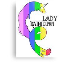 Lady Rainicorn Metal Print