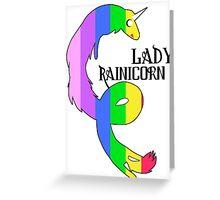 Lady Rainicorn Greeting Card