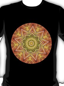 Vintage earth kaleidoscope mandala T-Shirt