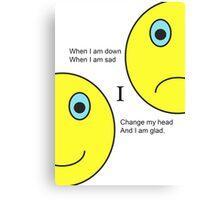 Happy - Sad Canvas Print
