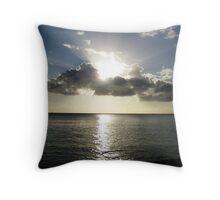 Shimmering sea Throw Pillow