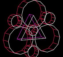 Coheed's Keywork in 3D - Neon by andymania