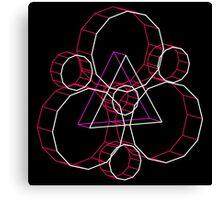 Coheed's Keywork in 3D - Neon Canvas Print