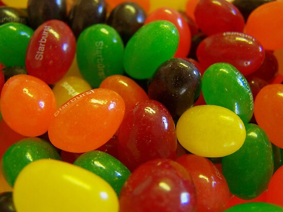 Starburst Jelly Beans by debbiedoda