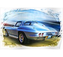Speed,Style,......And Beauty ( 63 Vette ) Poster