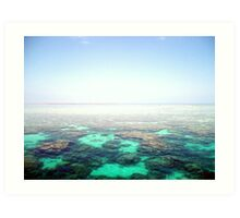 edge of the world (the great barrier reef) Art Print