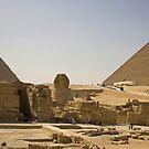 Sphinx and Pyramids by Tom Gomez