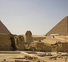 Sphinx and Pyramids by Tom Gomez