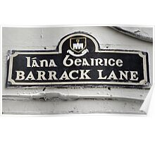 Barrack Lane Poster