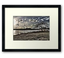 Warm but Cloudy Day Framed Print