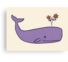 Peace Whale Canvas Print