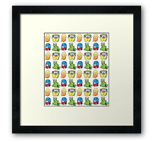 Creature Pattern Framed Print
