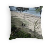 Sands and Sea from a Distance Throw Pillow