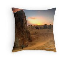 Desert Sunrise, Nambung NP, WA Throw Pillow