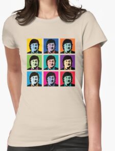 Stephen Fry (Andy Warhol) Womens Fitted T-Shirt