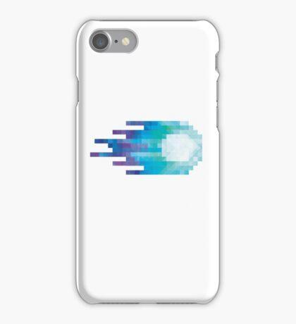 Blue pixel Fireball iPhone Case/Skin