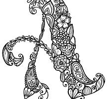 """A"" Flower Alphabet Letter by JulesBakerArt"