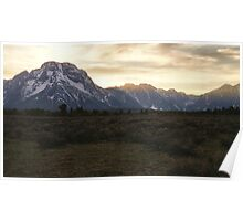 Sunset at Grand Teton Poster