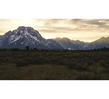 Sunset at Grand Teton Photographic Print