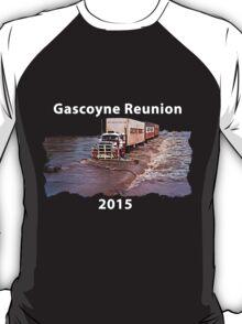 Gascoyne Reunion white writing T-Shirt