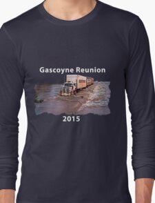 Gascoyne Reunion white writing Long Sleeve T-Shirt