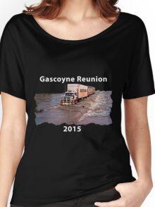Gascoyne Reunion white writing Women's Relaxed Fit T-Shirt