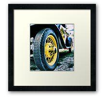 Yellow Tire Framed Print