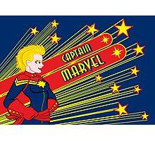 Cap Marvel! Photographic Print