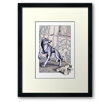 The Wolf at the Door Framed Print
