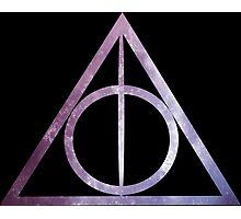 Deathly Hallows: Purple Stars Photographic Print