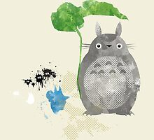 My Neighbor Totoro Giclee Vintage Digital Art  by paperheroes