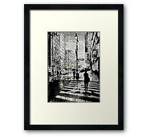 manhattan moment Framed Print