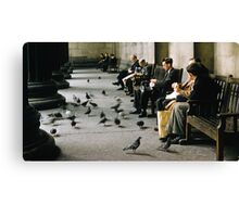 Feeding pigeons British Museum 19570831 0003 Canvas Print