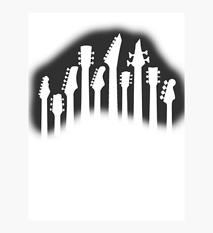 Guitar Collection Photographic Print
