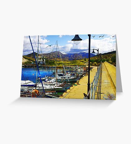 Walk Along the Pier Greeting Card