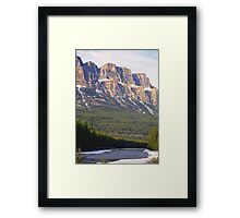 Castle Mountain & The Bow River Framed Print