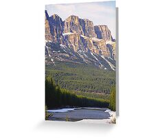Castle Mountain & The Bow River Greeting Card