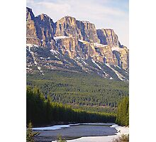 Castle Mountain & The Bow River Photographic Print