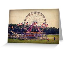 Silent Fairground Greeting Card