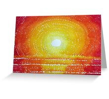 Awakening original painting Greeting Card