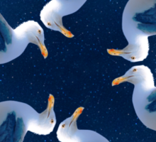 seagull in outer space Sticker