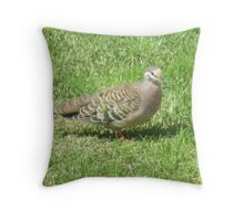 Lone Bronzewing Throw Pillow