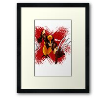 Wolvie - Q's mix Framed Print