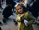 Feeding Pigeons Trafalgar Square 19570903 0005 by Fred Mitchell
