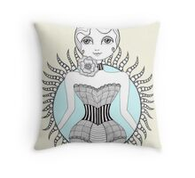 Hulahoop Betty Throw Pillow