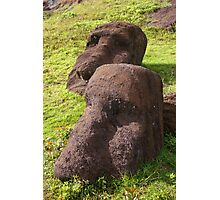 Easter Island faces Photographic Print