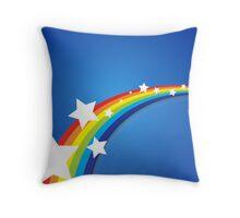 Rainbow Blue Sky Throw Pillow