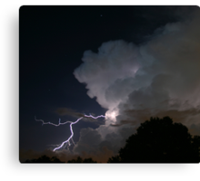 Late Evening Thunderstorm Canvas Print