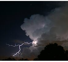 Late Evening Thunderstorm Photographic Print