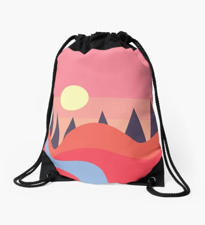 At the end of the day Drawstring Bag